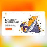 Concetto di progetto piano moderno del modello della pagina di atterraggio di sviluppo di personalità illustrazione di stock