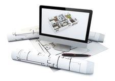 Concetto di progetto reale della casa royalty illustrazione gratis