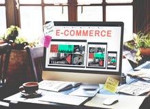 Concetto di progetto rispondente di affari di commercio elettronico di BusinE-affare di E-commrce di e-business concetto di proge Immagini Stock Libere da Diritti