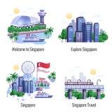 Concetto di progetto di Singapore 2x2 Fotografia Stock