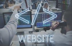 Concetto di programmazione di globalizzazione di tecnologia di codifica del sito Web Fotografia Stock