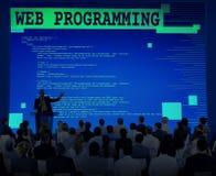 Concetto di programmazione di tecnologia degli sviluppatori di software di web Fotografia Stock Libera da Diritti