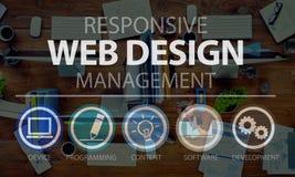 Concetto di programmazione di tecnologia software di web design Fotografia Stock