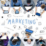 Concetto di progresso di Marketing Business Corporation immagine stock