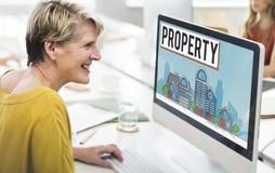 Concetto di proprietà dell'insediamento della proprietà Immagine Stock Libera da Diritti