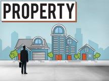 Concetto di proprietà dell'insediamento della proprietà Immagine Stock