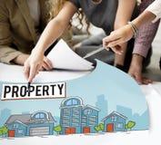 Concetto di proprietà dell'insediamento della proprietà Immagini Stock