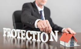 Concetto di protezione Fotografia Stock
