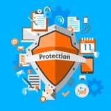 Concetto di protezione dei dati Immagine Stock Libera da Diritti