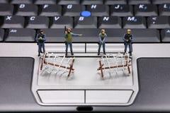 Concetto di protezione dei dati del calcolatore Immagini Stock