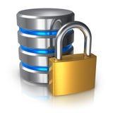 Concetto di protezione dei dati del calcolatore e della base di dati Fotografie Stock