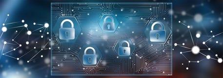 Concetto di protezione dei dati illustrazione di stock