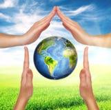 Concetto di protezione dell'ambiente Fotografie Stock