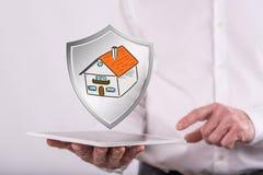 Concetto di protezione della casa Fotografia Stock Libera da Diritti