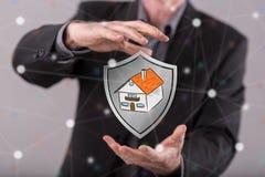 Concetto di protezione della casa Immagini Stock Libere da Diritti