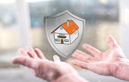 Concetto di protezione della casa Immagine Stock
