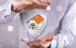 Concetto di protezione della casa Fotografie Stock Libere da Diritti
