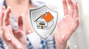 Concetto di protezione della casa Fotografia Stock