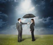Concetto di protezione di assicurazione Fotografie Stock Libere da Diritti