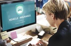 Concetto di protezione di danno di incidente di assicurazione del veicolo Immagine Stock