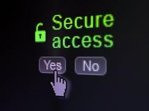 Concetto di protezione: L'icona aperta del lucchetto e fissa Immagini Stock
