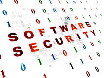 Concetto di protezione: Sicurezza del software su Digital Immagini Stock Libere da Diritti