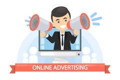 Concetto di pubblicità on line royalty illustrazione gratis