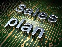 Concetto di pubblicità: Piano di vendite sul fondo del circuito Immagine Stock