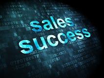Concetto di pubblicità: Successo di vendite su fondo digitale Immagini Stock