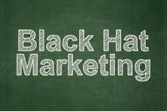 Concetto di pubblicità: Vendita black hat sul fondo della lavagna Illustrazione Vettoriale
