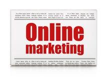 Concetto di pubblicità: vendita online del titolo di giornale Immagine Stock Libera da Diritti
