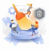 Concetto di pulizia di dati illustrazione di stock