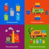 Concetto di pulizia, ordinando, elaborare e Fotografia Stock Libera da Diritti