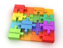 Concetto di puzzle di affari Immagine Stock