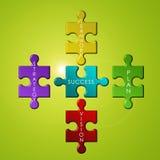 Concetto di puzzle di affari Immagini Stock