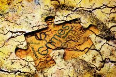 Concetto di puzzle di crimini Fotografia Stock