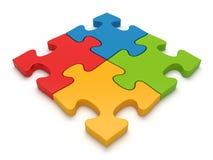 Concetto di puzzle di puzzle di lavoro di squadra illustrazione vettoriale