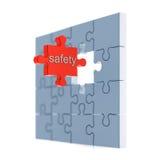 Concetto di puzzle di sicurezza Fotografia Stock