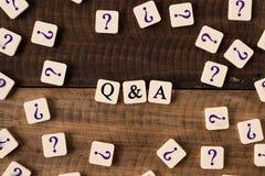 Concetto di Q&A di domande e risposte immagini stock libere da diritti