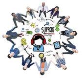 Concetto di qualità di soddisfazione di cura di aiuto di consiglio della soluzione di sostegno Fotografia Stock Libera da Diritti