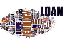Concetto di Rate Text Background Word Cloud di home-equity loan di Z Fotografie Stock