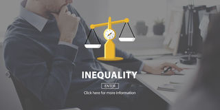 Concetto di razzismo di squilibrio di diversità di differenza di diseguaglianza Immagini Stock