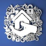 Concetto di Real Estate - decorazione fatta a mano Fotografia Stock Libera da Diritti