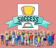 Concetto di realizzazione di successo del premio al successo dei bambini dei bambini Fotografie Stock Libere da Diritti