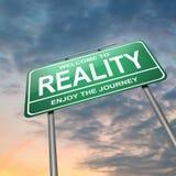 Concetto di realtà. Fotografie Stock Libere da Diritti