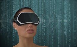 Concetto di realtà virtuale Immagine Stock