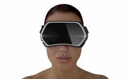 Concetto di realtà virtuale Fotografia Stock