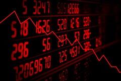 Concetto di recessione fotografie stock libere da diritti