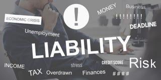 Concetto di recessione di crisi finanziaria di fallimento del fallimento fotografie stock