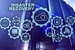 Concetto di recupero da disastro di Big Data piano di sostegno Prevenzione degli infortuni di dati su uno schermo virtuale immagine stock libera da diritti